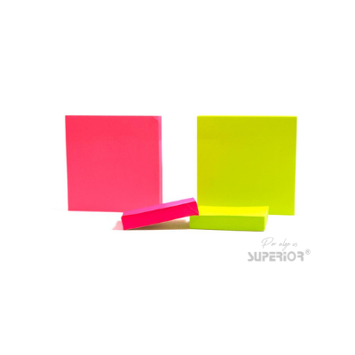 Notas Adhesivas 3x3 Color Neon Superior