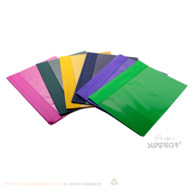 FOLDER TAPA TRANSPARENTE COLORES